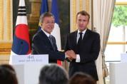 한불 정상 한반도 비핵화 평화적 달성 긴밀 협력